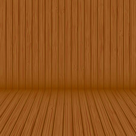 Wood texture background. Vector wood plank background Çizim
