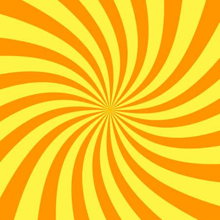 Sun rays orange vector abstract background