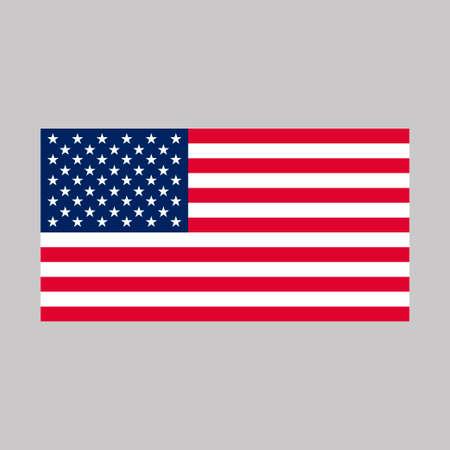Ilustración de vector de bandera de Estados Unidos. Icono de la bandera americana