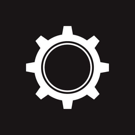 Gear icon isolated. Vector illustration