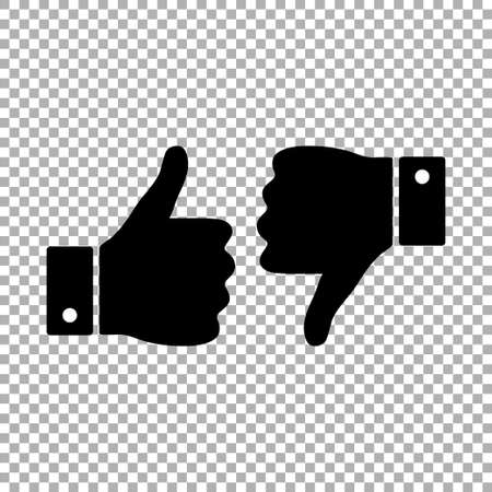 Like and dislike icon isolated. Vector illustration