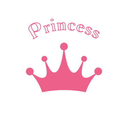 Crown icon. Princess crown icon isolated on white background. Vector illustration Ilustrace