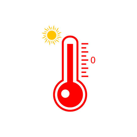 Heat thermometer icon isolated on white background. Vector illustration