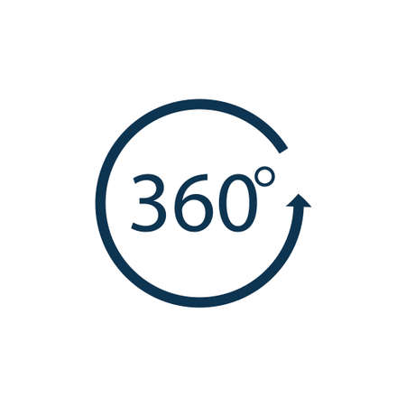 Angle 360 degrees sign icon. Vector illustration