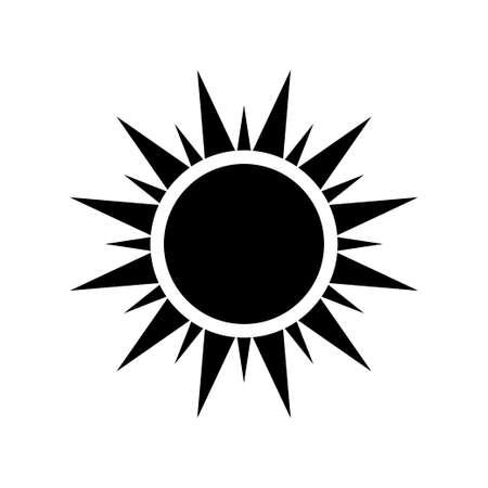 Sun icon isolated on white background. Vector illustration