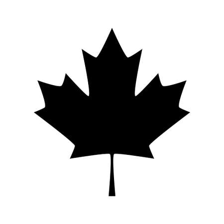 Maple leaf icon. Canada symbol maple leaf isolated on white background. Vector illustration 矢量图像