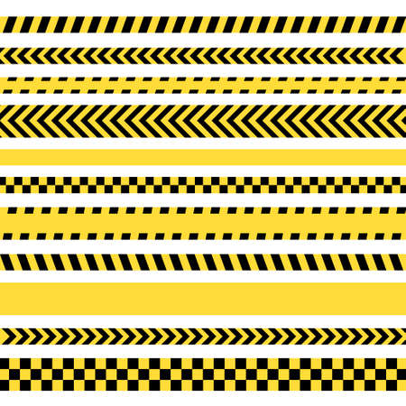 Black and yellow police stripe. Vector illustration