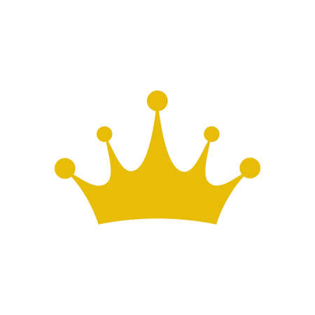 Crown icon vector. Princess crown isolated on white background. Vector illustration Ilustrace