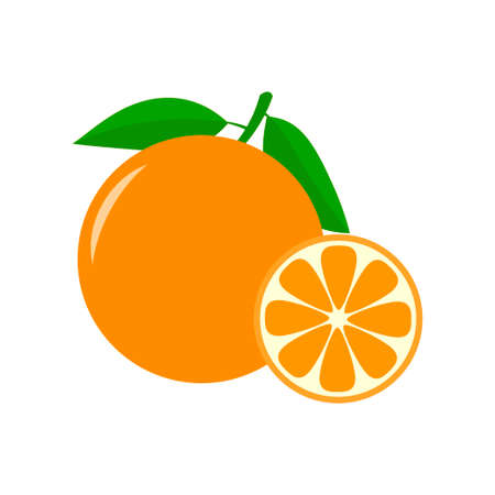 Orange icon isolated on white background. Vector illustration Stock Illustratie