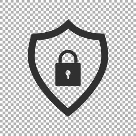 Shield security icon isolated. Vector illustration