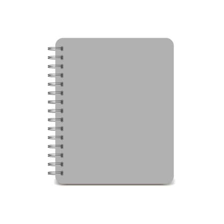 Spiral notepad, notebook. Closed notebook icon isolated on white background. Vector illustration
