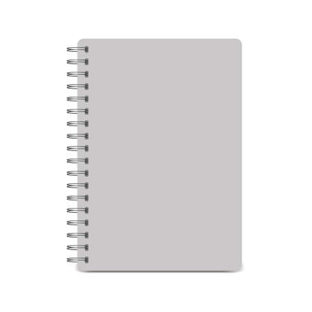 Spiral notepad, notebook. Closed notebook icon isolated on white background. Vector illustration Vecteurs