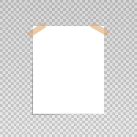 Sticky on transparent background. Vector illustration