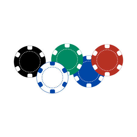 Casino chips icon isolated on white background. Vector illustration Ilustração