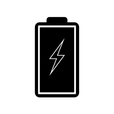 Accumulator icon, battery icon isolated on white background. Vector illustration