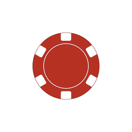 Casino chips icon isolated on white background. Vector illustration Иллюстрация