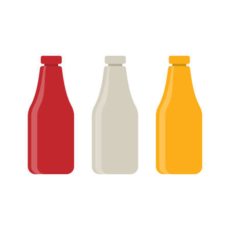 Sauce bottles icon on white background. Vector illustration
