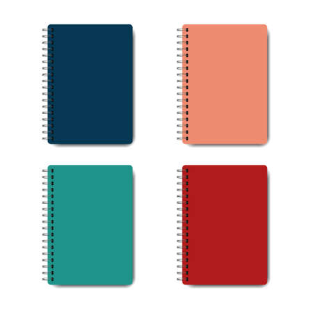 Spiral notebook icon isolated on white background. Vector illustration