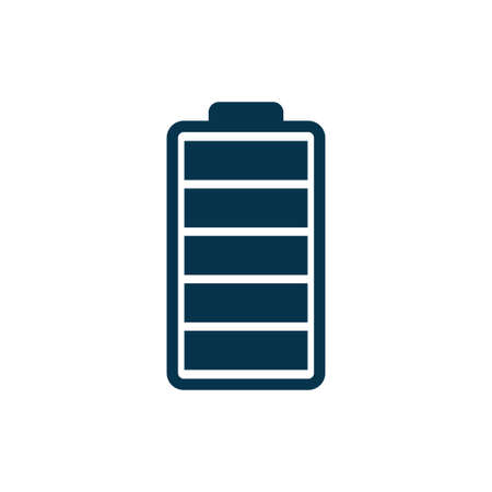 Full battery icon isolated on white background. Vector illustration