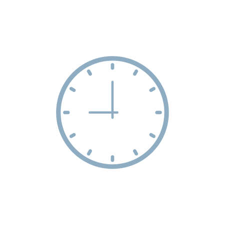 Clock icon isolated on white background. Time icon vector illustration
