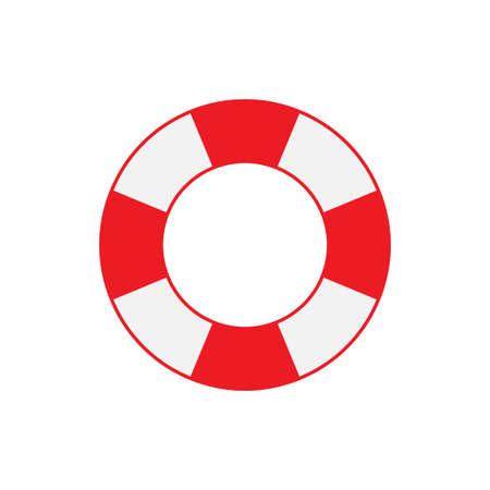 Lifebuoy icon isolated on white background. Vector illustration Иллюстрация