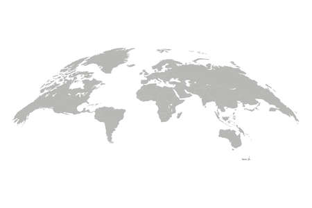World map vector illustration. 3D globe world map isolated on white background