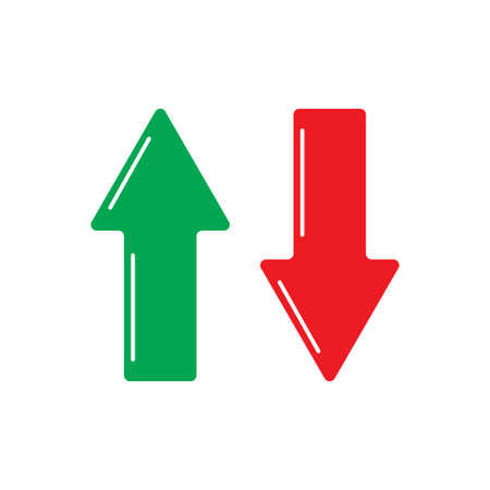Up and down arrows icon isolated on white background. Vector illustration