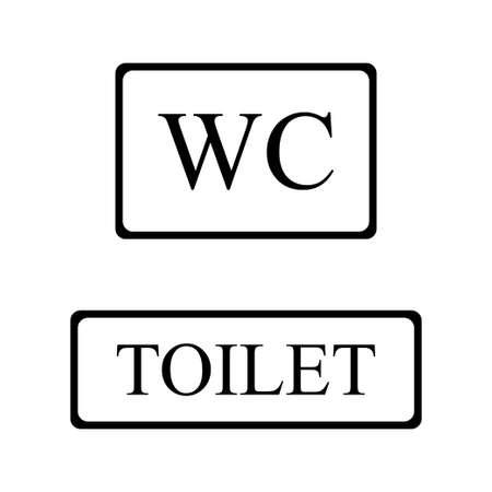 WC sign icon. Toilet symbol. Washroom vector illustration Иллюстрация