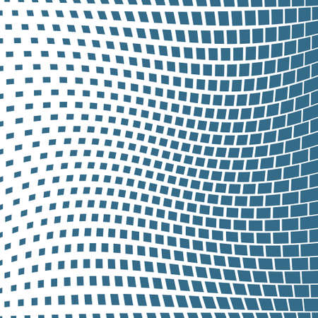 Abstract geometric square halftone background. Vector illustration