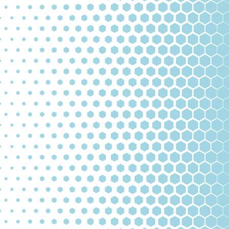 Abstract hexagonal halftone background. Vector illustration