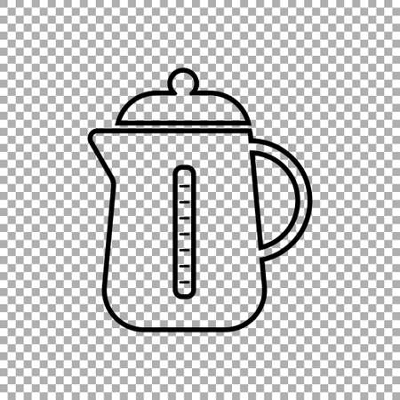Kettle icon isolated on transparent background. Vector illustration Иллюстрация