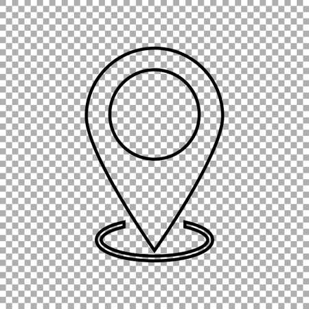 Location icon, gps marker symbol, map pin icon