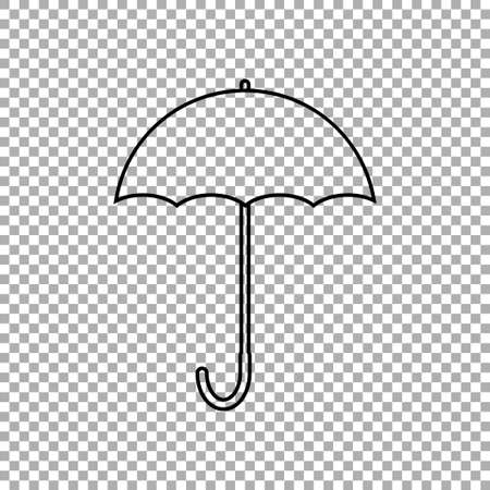 Umbrella icon isolated on transparent background. Vector illustration Иллюстрация