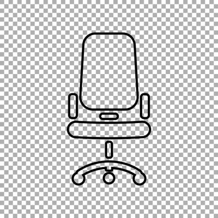 Office chair icon isolated on transparent background. Vector illustration