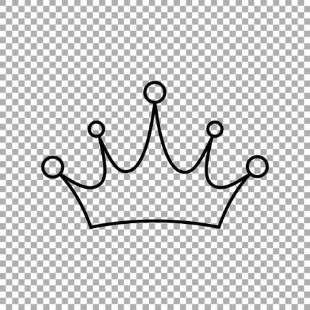 Crown icon. Princess crown icon isolated on transparent background. Vector illustration Иллюстрация
