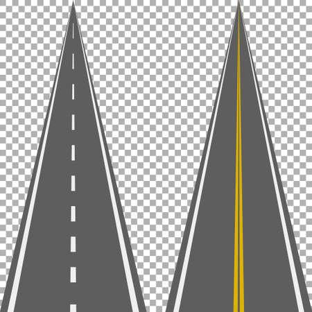 Straight roads isolated. Иллюстрация