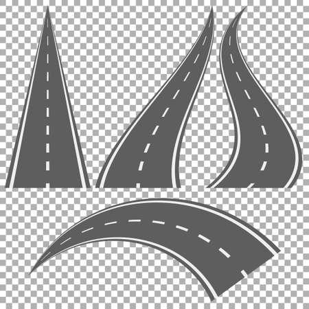 Straight and winding roads Иллюстрация