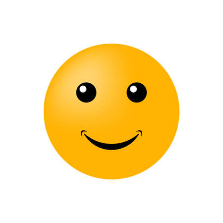 Emoticon face isolated on white background. Vector icon