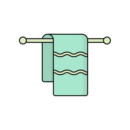 illustration of a hanging towel. vector icon Иллюстрация