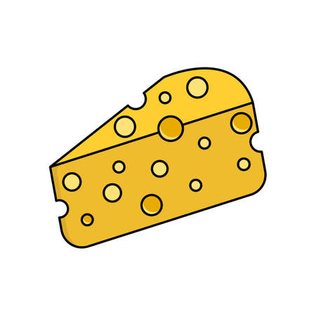 cheese icon. vector illustration in white background. food. suitable for website design