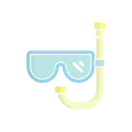 diving goggles mask icon vector illustration. suitable for website design