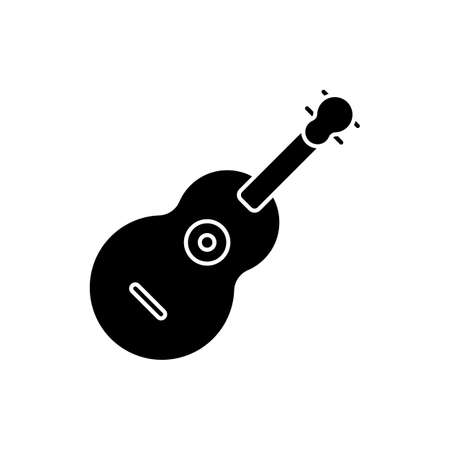 guitar icon vector illustration. suitable for website design
