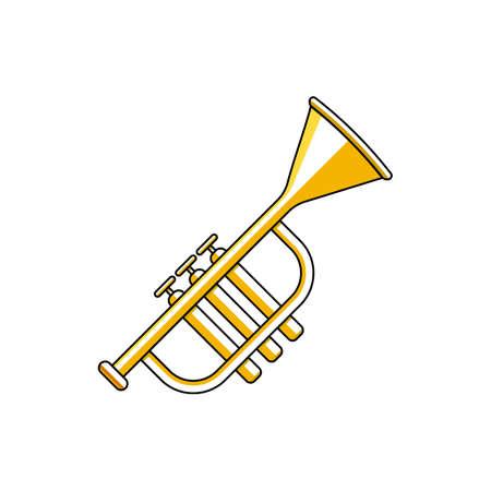 trumpet icon vector illustration. suitable for website design