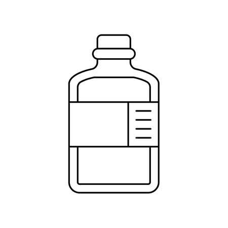 medicine bottle icon. vector illustration. suitable for web design