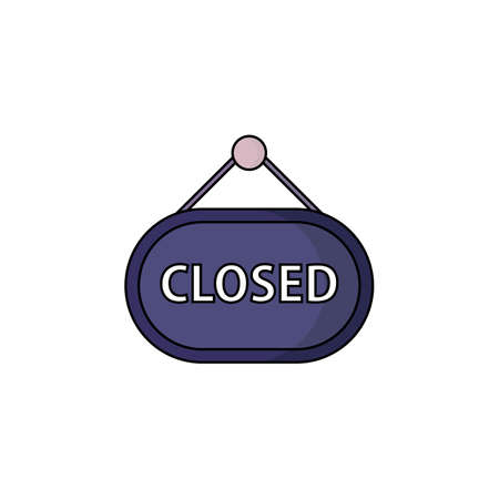 closed icon. vector illustration. suitable for website design Illustration