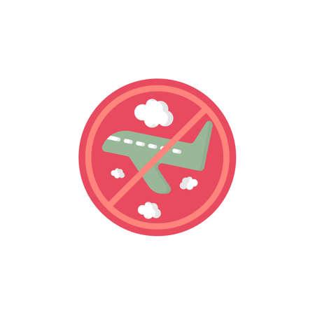 flight ban icon. vector illustration. stop flight. flight canceled