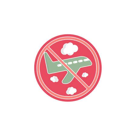flight ban icon. vector illustration. stop flight. flight canceled Ilustrace