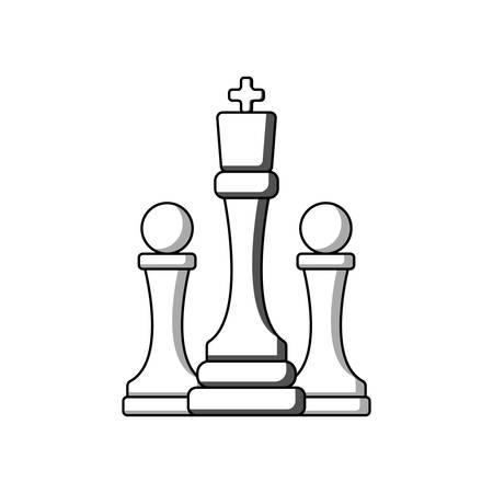 chess icon vector illustration. logo. suitable for web design Logo