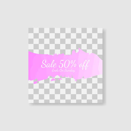 fashion social media banner post template. vector