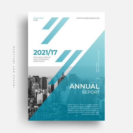 modern business corporate annual report flyer brochure cover design Vektoros illusztráció
